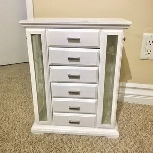 White jewelry cabinet